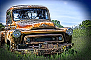 Dents Posters - International Truck Alone and Rusting Poster by William Havle