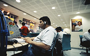 Bangalore Prints - Internet Cafe Print by Volker Steger