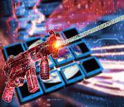 Internet Terrorism Print by Victor Habbick Visions