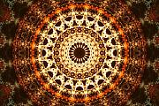 Mandala Digital Art - Interpolating Family of Particles by Filip Klein