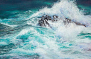 Wave Pastels - Interrupted Journey by Candace D Fenander