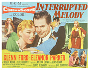 1955 Movies Prints - Interrupted Melody, Center From Left Print by Everett