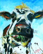 Moo Moo Paintings - Interruption by Claire Kayser