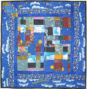 Quilts Tapestries - Textiles - Interruptions by Salli McQuaid
