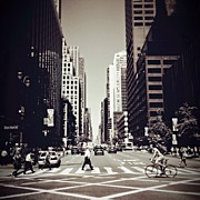 Life Framed Prints - Intersection - New York City Framed Print by Vivienne Gucwa