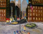 Flagpole Paintings - Intersection by John  Williams
