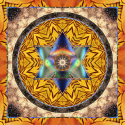 Circle Mandalas Framed Prints - Interspectra Framed Print by Bell And Todd
