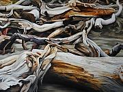 Driftwood Framed Prints - Intertwined Framed Print by Chris Steinken