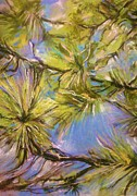 Pine Needles Pastels Prints - Intimate Pine Print by Bob Naramore