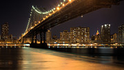 Brooklyn Bridge Art - Into Manhattan  by JC Findley