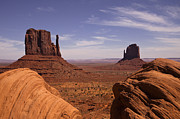 Country Scene Art - Into Monument Valley by Andrew Soundarajan