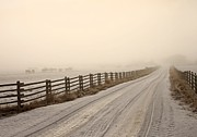 Winter Roads Prints - Into The Fog Print by Roland Stanke