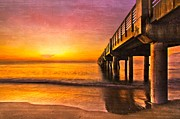 Beach Photograph Posters - Into The Light Poster by Debra and Dave Vanderlaan