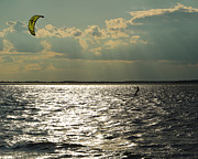 Kite Boarding Art - Into the Light by DK Hawk