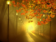 Lamp Post Mixed Media Prints - Into The Light Print by Igor Zenin