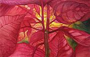 Poinsettias Paintings - Into the Light by Lois Mountz