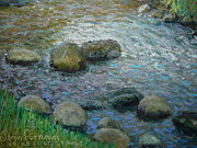 Terry Perham Art - Into The Light.Kaikorai Stream by Terry Perham