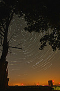 Startrails Photo Acrylic Prints - Into the Night Acrylic Print by Jim Finch