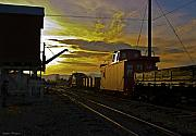 Caboose Mixed Media - Into the Sunset by Stephen  Thompson
