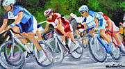 Cycling Originals - Into the turn by Michael Lee