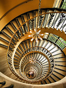 Spiral Staircase Metal Prints - Into the Vortex Metal Print by Steven Ainsworth