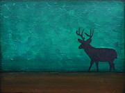 Deer Silhouette Prints - Into the Wild Print by Gillian Sarah