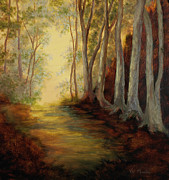 Vic Mastis Paintings - Into the Woods-Glowing by Vic  Mastis