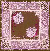 Vine Leaves Mixed Media Framed Prints - Intricate Lace Hankie Framed Print by Jenny Elaine