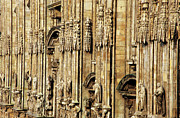 Intricacy Framed Prints - Intricate sculptures on the Milan Cathedral Framed Print by Sami Sarkis