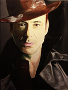 Robert Downey Jr. Prints - Intrigue Print by Angela Schwengler