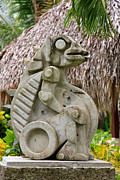 Taino Photo Posters - Intriguing Taino Sculpture Poster by Karen Lee Ensley