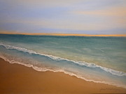 Beach Sunsets Originals - Introspect Beach by Janet Matwiejow