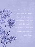 Ble Sky Posters - Introvert Poster by Tia Helen