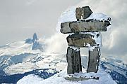 Tusk Metal Prints - Inukchuk Whistler Metal Print by Pierre Leclerc