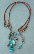 Silver Turquoise Jewelry - Inukshuk 1 Necklace by Marta Eagle
