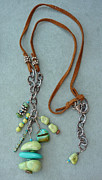 Silver Turquoise Jewelry - Inukshuk 2 Necklace by Marta Eagle