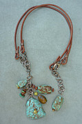Silver Turquoise Jewelry - Inukshuk 3 Necklace by Marta Eagle