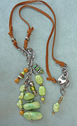 Silver Turquoise Jewelry - Inukshuk 4 Necklace by Marta Eagle
