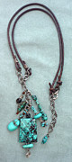 Silver Turquoise Jewelry - Inukshuk 5 Necklace by Marta Eagle