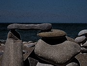 Surrealism Photo Posters - Inuksuit Night Poster by First Star Art 