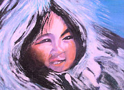 American Aboriginal Art Paintings - Inupiaq Eskimo Child by Alethea McKee