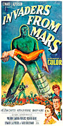 1950s Poster Art Framed Prints - Invaders From Mars, Bottom Right Framed Print by Everett