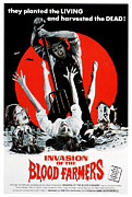 Horror Movies Photo Framed Prints - Invasion Of The Blood Farmers, Poster Framed Print by Everett