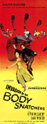 1950s Poster Art Art - Invasion Of The Body Snatchers, Center by Everett
