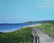 Beach Scenery Prints - Inverness Beach Print by Betty-Anne McDonald
