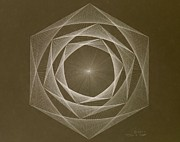 Jason Padgett Drawings - Inverted Energy Spiral by Jason Padgett