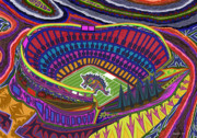Stadium Digital Art - Invesco Field - Stegasaurus Stadium by Robert  SORENSEN