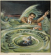 1901 Prints - Investors Beware Cartoon Shows Print by Everett