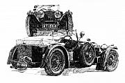 Automotive Drawings - Invicta by Ron Patterson