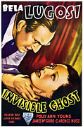 Choking Framed Prints - Invisible Ghost, From Left Bela Lugosi Framed Print by Everett